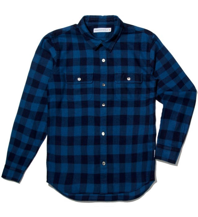 Blue Block Check Shirt