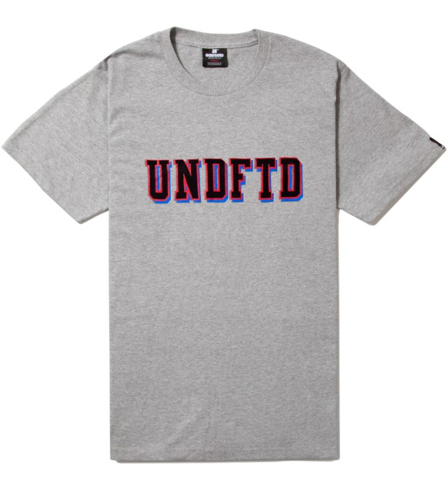 Heather Grey SS UNDFTD Block T-Shirt