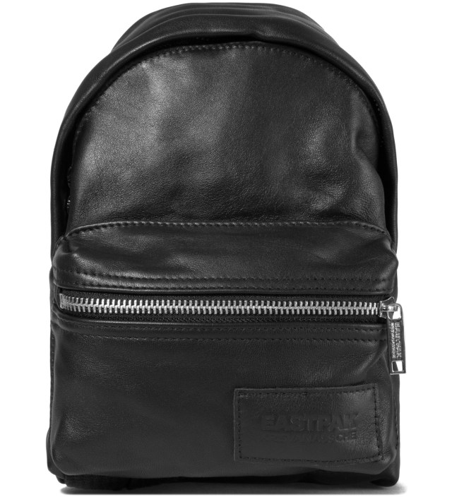 Eastpak KRISVANASSCHE Black Leather Mini Backpack Pouch
