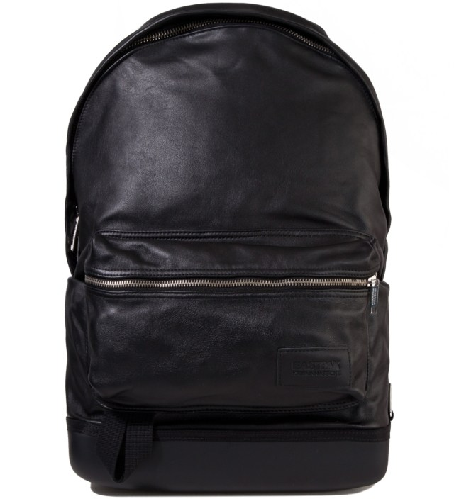 Eastpak KRISVANASSCHE Black Leather Backpack