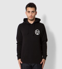 Us Versus Them Black V Anarchy Hoodie Model Picutre