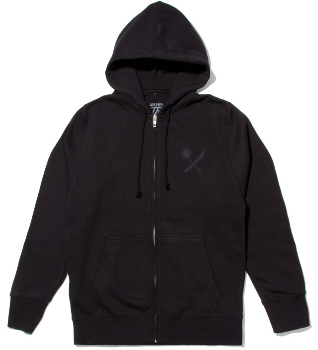 Black Magnum Tonal Zip Up
