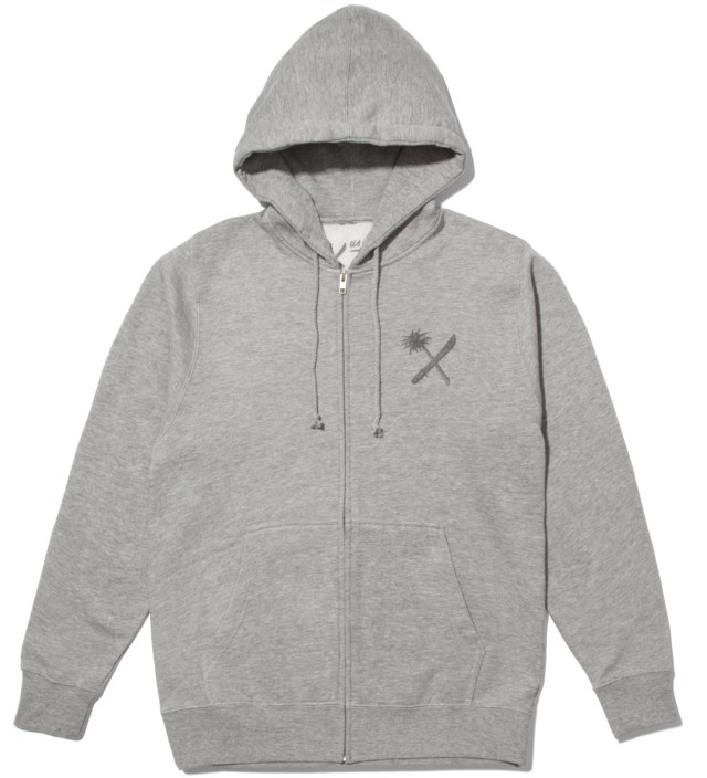Heather Grey Magnum Tonal Zip Up