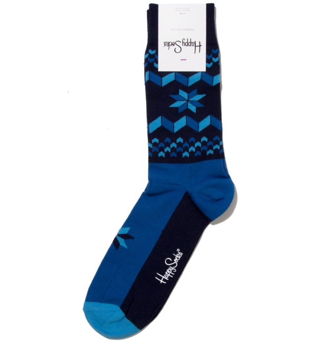 Blue Snowflake Sock	Blue