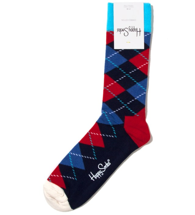 Blue Argyle Sock