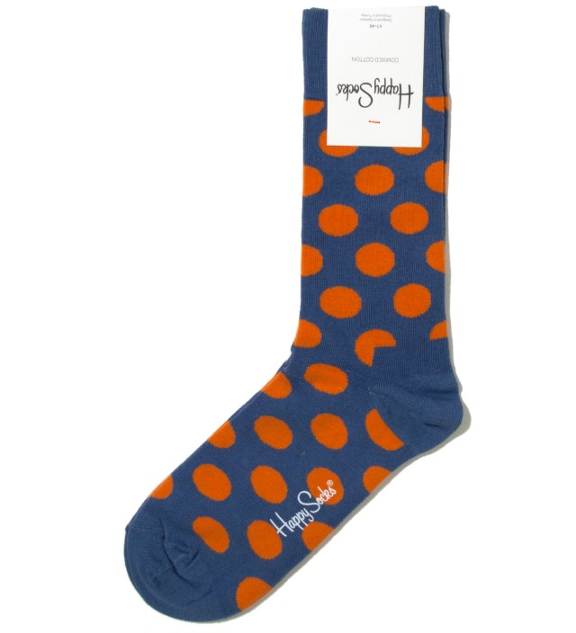 Blue/ Orange Big Dot Sock
