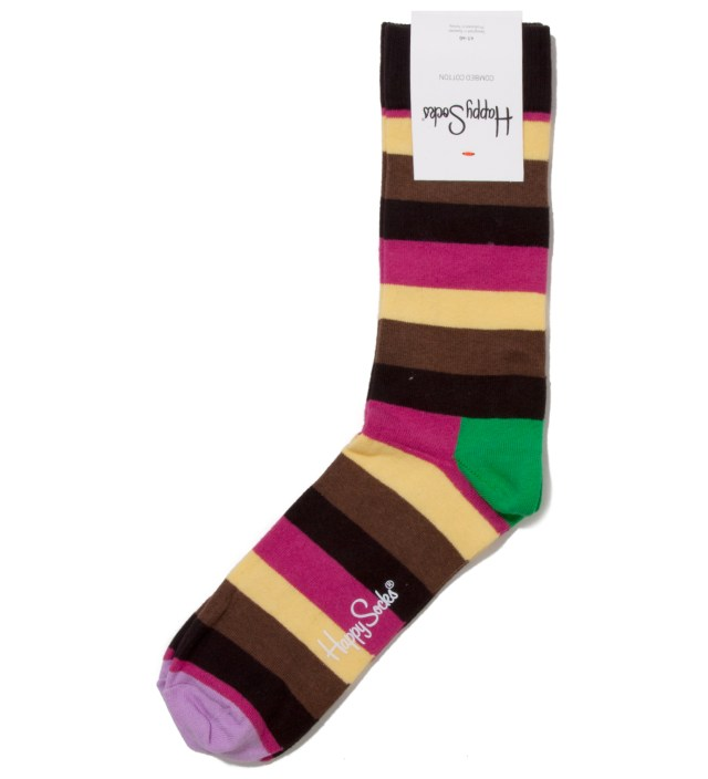 Light Purple Tip Stripes Sock