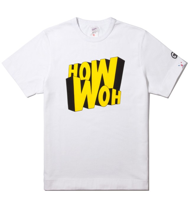 White How Woh Print T-Shirt