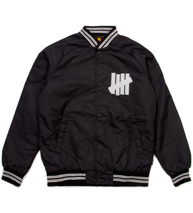Black Satin Snap Up Jacket