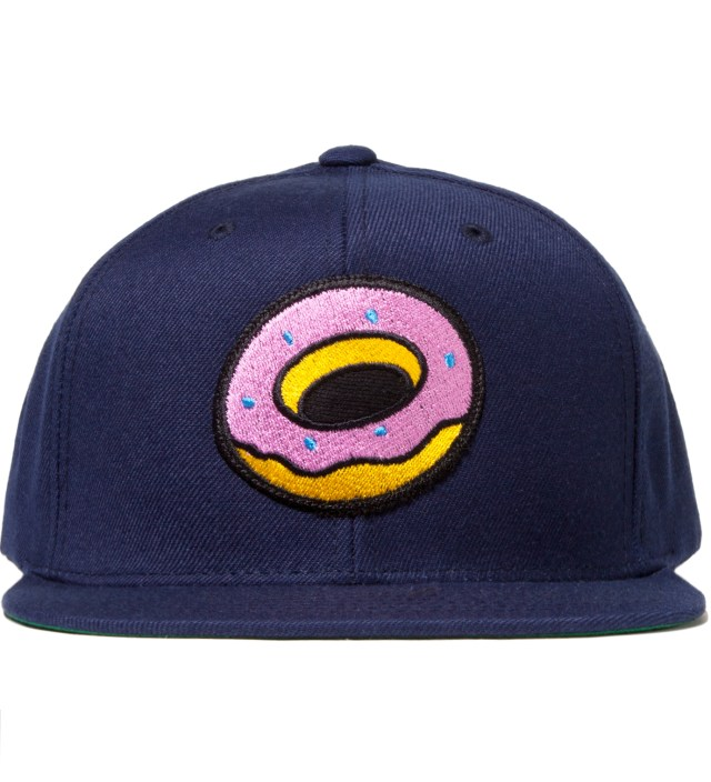 Navy OF Donut Snapback Cap