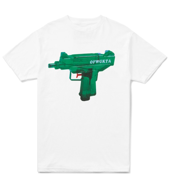 White OFWGKTA Water Gun Uzi T-Shirt