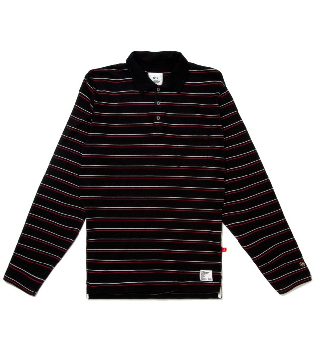 "Stussy x The Heartbreakers Red L/S ""Chuck"" Polo"
