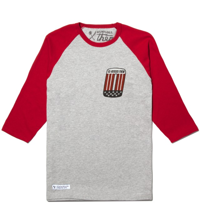 Red Patched Raglan