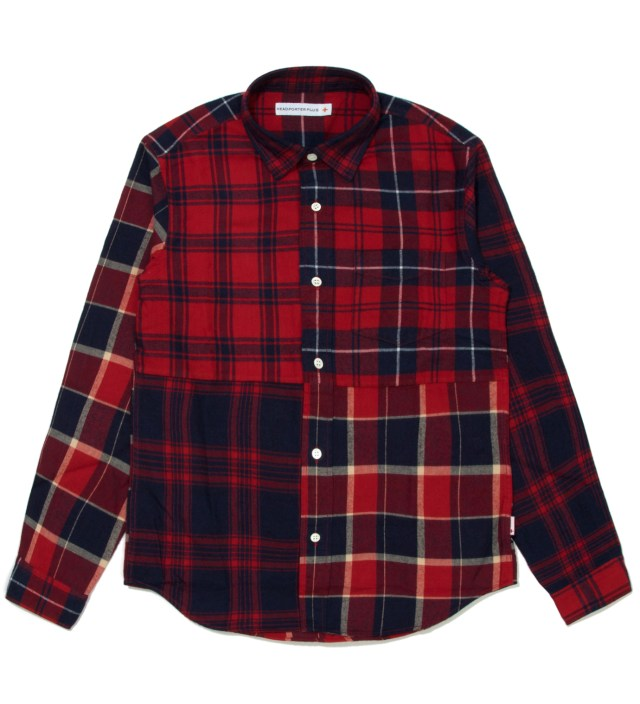 Red Check Patchwork Shirt