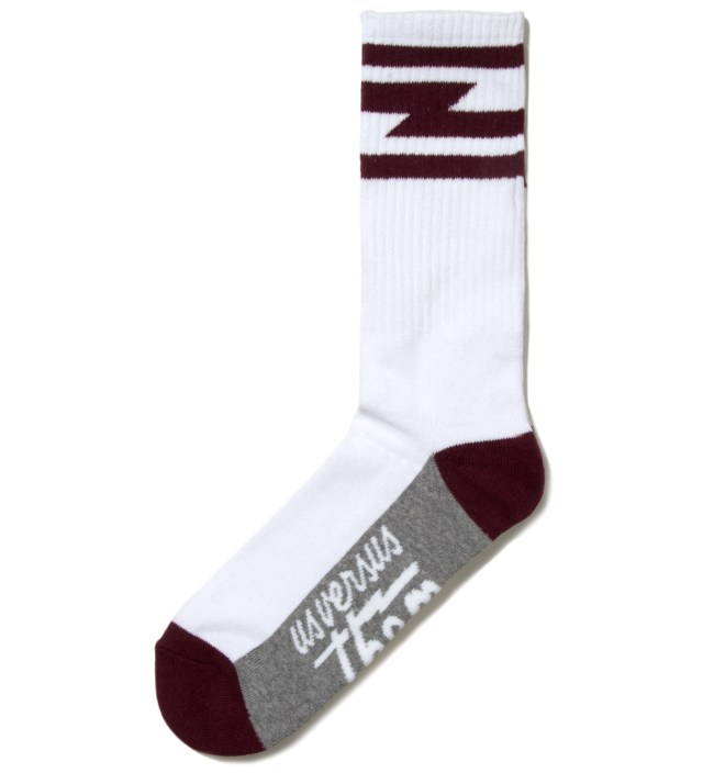 White Del Mar Crew Socks
