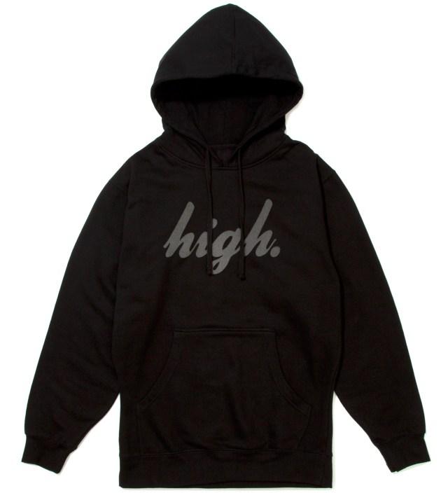 Black Domo High Black Hoodie