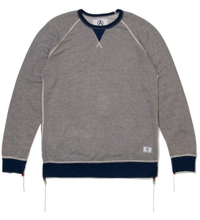 Grey/Blue Crewneck