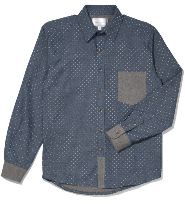 Polka Dots Chambray Confort Shirt