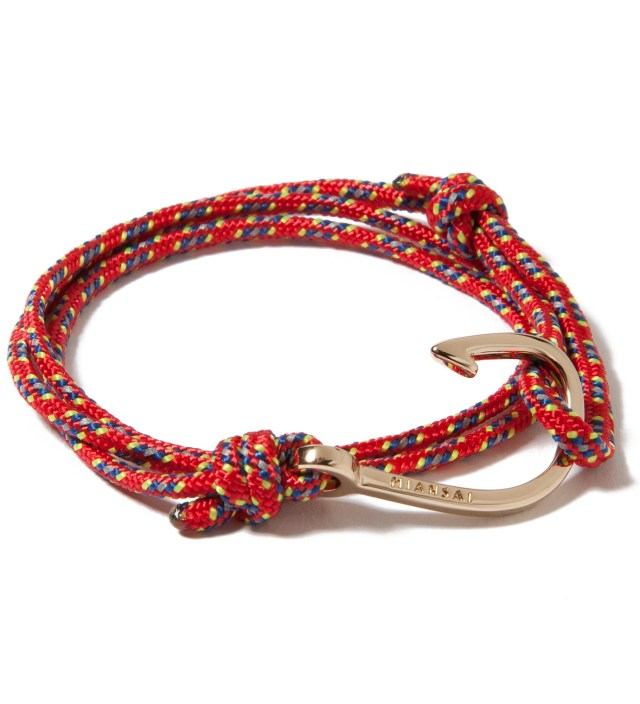 Gold Hook on Red Rope Bracelet