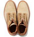 Garbstore x Grenson Tan High Leg Leather Sole Boot