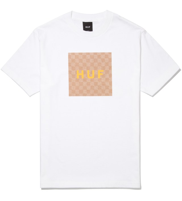 White Checkered Box T- Shirt