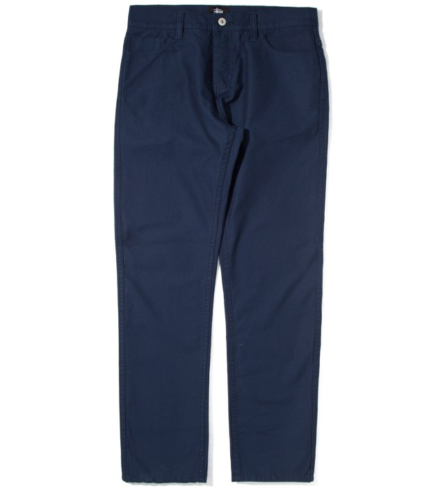 Navy Reverse Twill 5 Pocket Pants