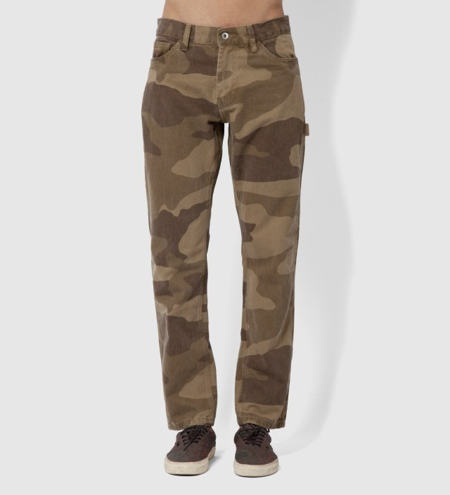 Khaki Camo Herringbone Work Pants