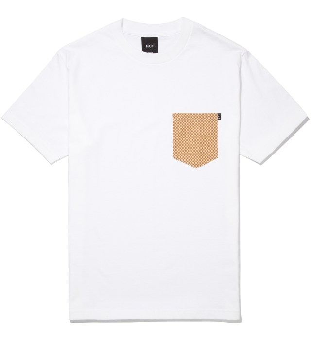 White Checkered Pocket T- Shirt