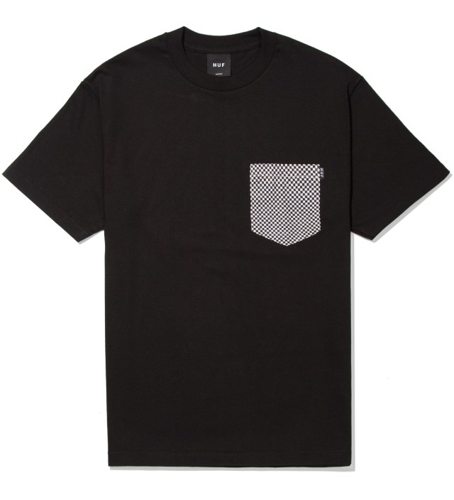 Black Checkered Pocket T- Shirt
