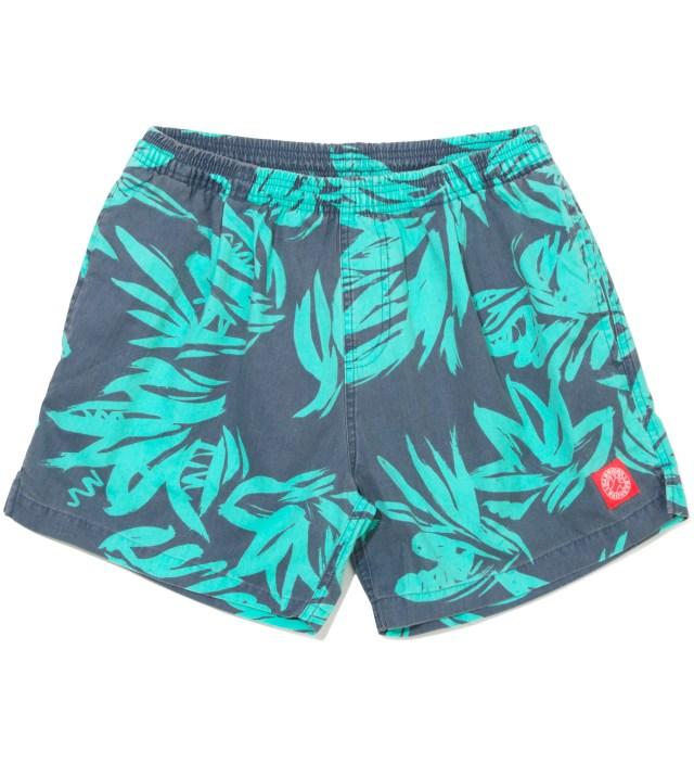 Heron Blue Foliage Shorts