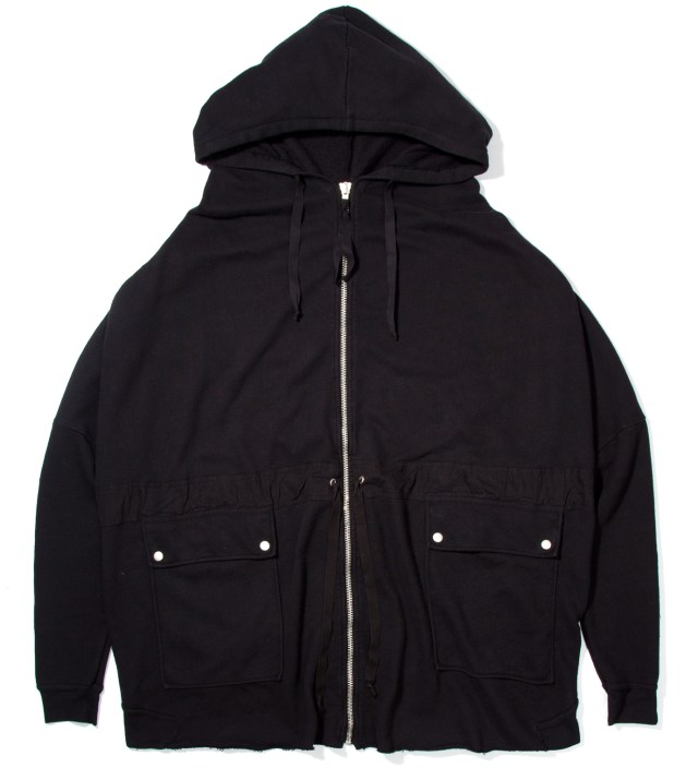 Black Tarz Oversized Zipped Jacket
