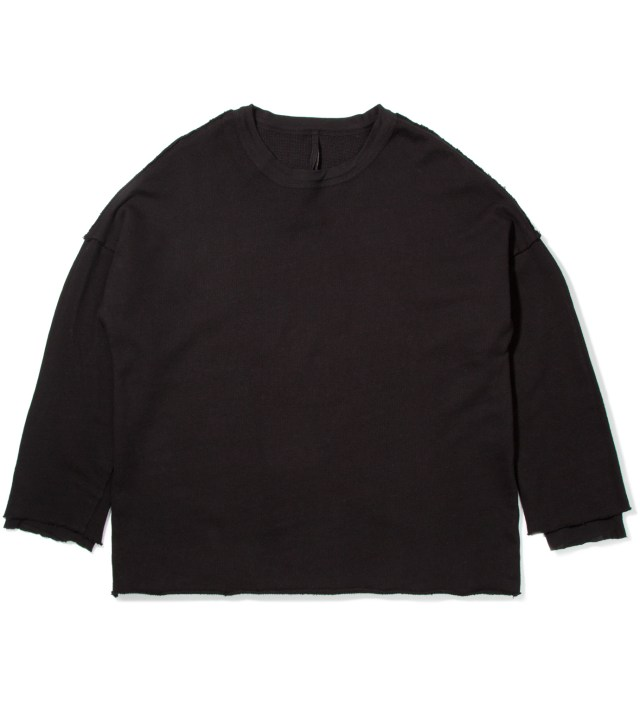 Black Tian Cropped Sweater