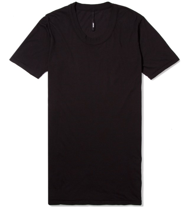 Black Toba Oval Neck T-Shirt