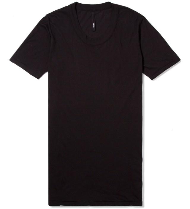 Black Toba Oval Neck T-Shirt