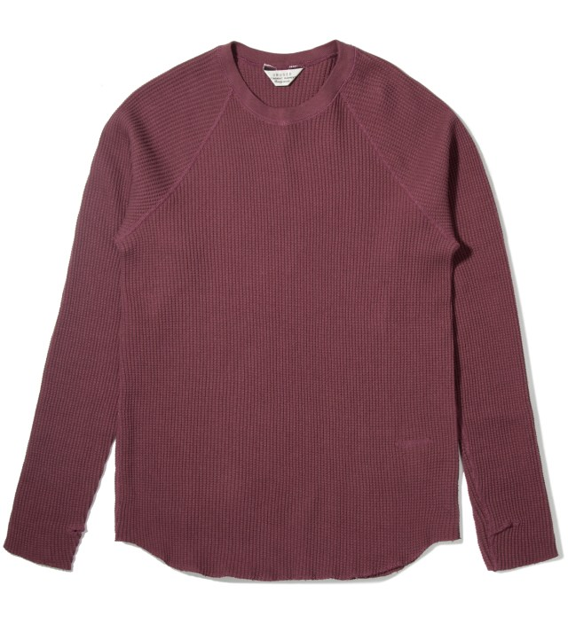 Burgundy Thermal Long Sleeve T-Shirt