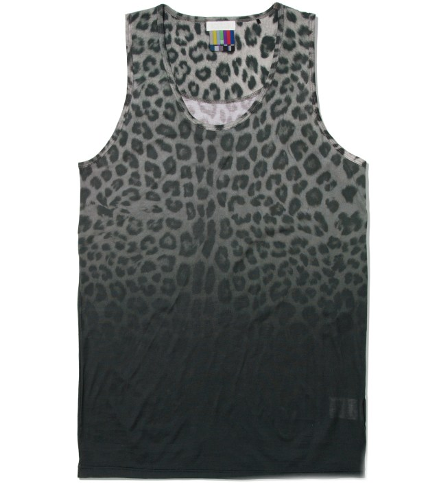 Gray Leopard Tank top