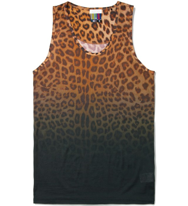 Yellow Leopard Tank Top