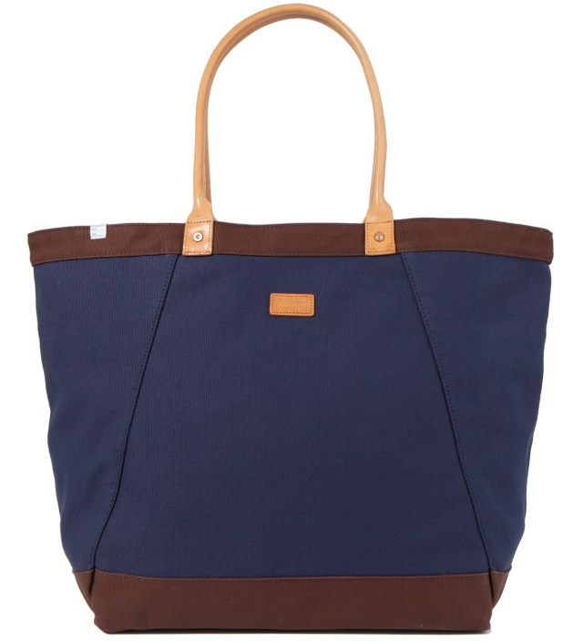 Navy Wagon Tote Bag