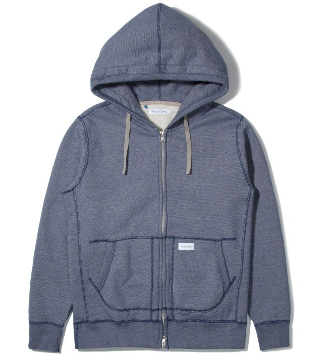 Blue Workaday Zip Hoodie