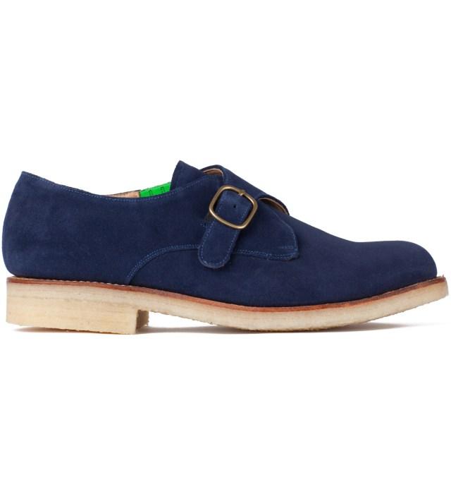 Garbstore x Grenson Navy Mushroom Monk Shoe