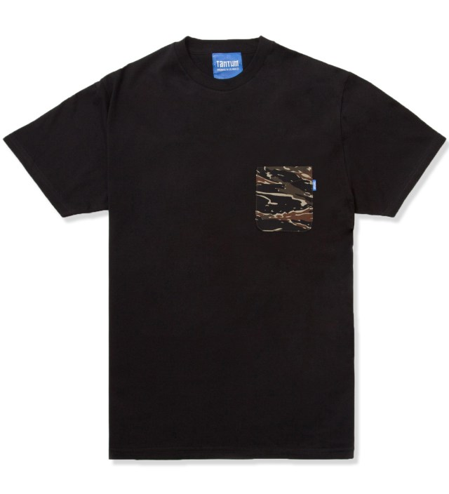 Black Asian Tiger Stripe Camo T- Shirt