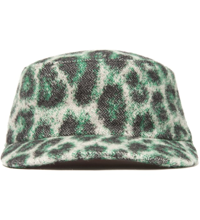 Green Leopard Work Cap