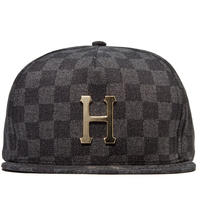 Black Checkered Metal H Cap