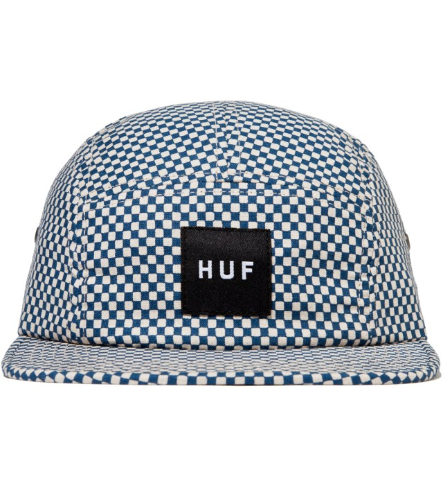 Teal Checkered Volley Cap