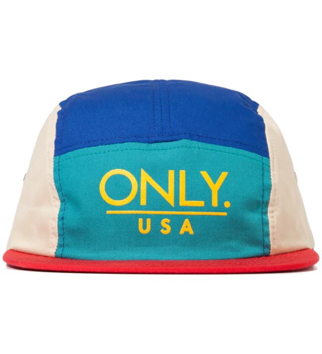 Royal/Ivory ONLY USA 5 Panel Cap