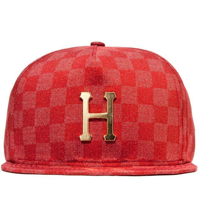 Red Checkered Metal H Cap
