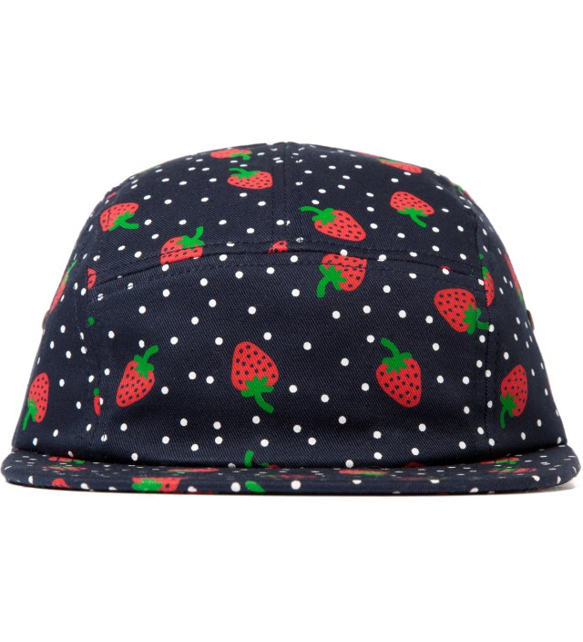 Navy Strawberry 5 Panel Cap