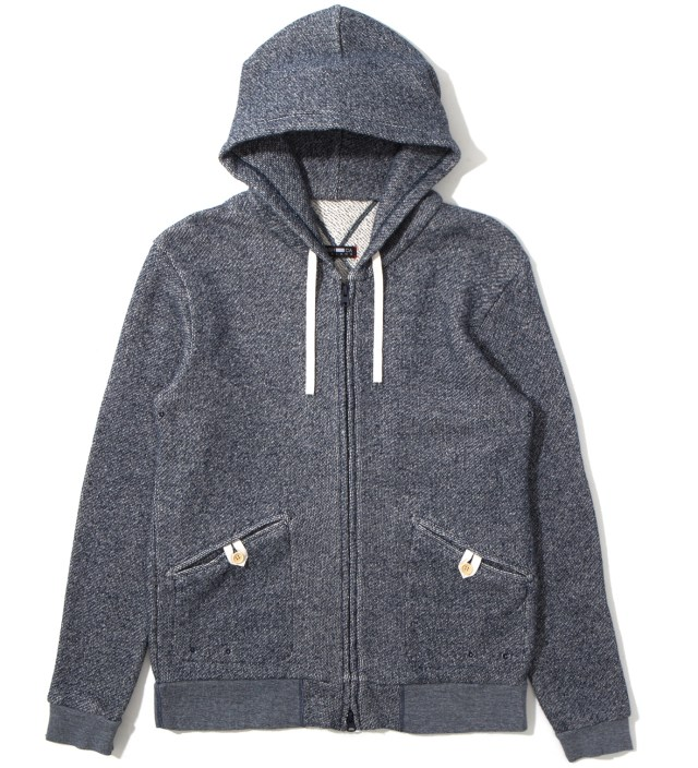 Navy Heavy Weight Zip Parka