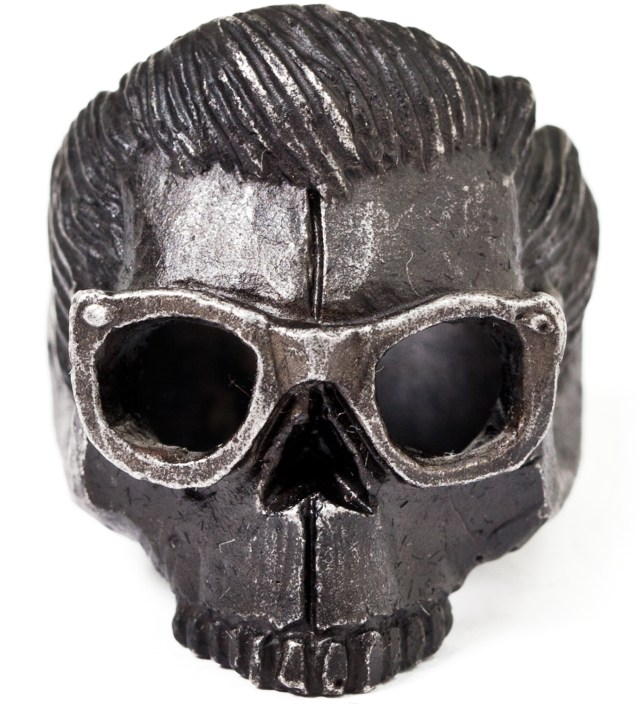 Black Dead Serious with Glasses Ring