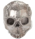 Silver Dead Serious with Glasses Ring